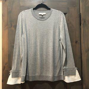 LOFT strip sweater